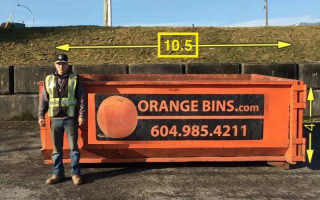 10-Yard Bin Rental, Orange Bins Vancouver