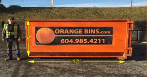 16-Yard Bin Rental, Orange Bins Vancouver