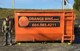 18-Yard Bin Rental, Orange Bins Vancouver