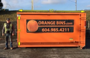 20-Yard Bin Rental, Orange Bins Vancouver